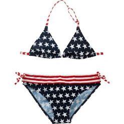 Stroje dwuczęściowe dziewczęce: Bikini dziewczęce (2 części) bonprix ciemnoniebiesko-czerwony w gwiazdki