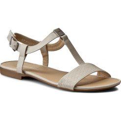 Rzymianki damskie: Sandały VIA RAVIA - WS1521-1 Beżowy