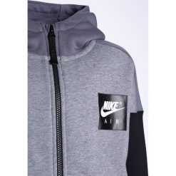 Nike Performance AIR HOODIE  Bluza rozpinana carbon heather/dark grey/white/dark grey. Szare bluzy chłopięce rozpinane Nike Performance, z bawełny. W wyprzedaży za 167,30 zł.
