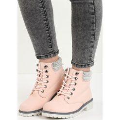 Buty zimowe damskie: Różowe Traperki Riverdale