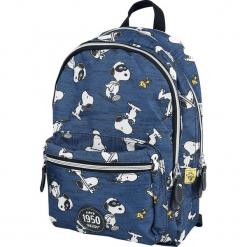 Fistaszki Snoopy Plecak niebieski. Niebieskie plecaki męskie Fistaszki, z aplikacjami. Za 99,90 zł.