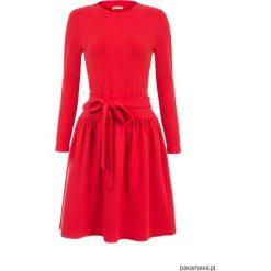 Czerwona sukienka z długim rękawem. Czarne sukienki mini marki KIPSTA, m, z elastanu, z długim rękawem, na fitness i siłownię. Za 149,00 zł.