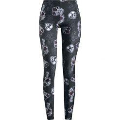 Spodnie damskie: Hell Bunny Dark Valentine Leggings Legginsy czarny