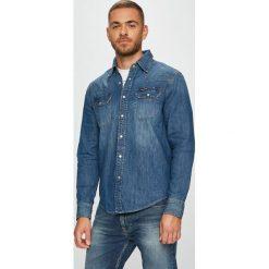 Calvin Klein Jeans - Koszula. Szare koszule męskie jeansowe marki Calvin Klein Jeans, l, z klasycznym kołnierzykiem, z długim rękawem. Za 359,90 zł.