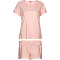 """Piżama """"Soft Dreams"""" w kolorze brzoskwiniowym. Białe piżamy damskie marki LASCANA, w koronkowe wzory, z koronki. W wyprzedaży za 81,95 zł."""