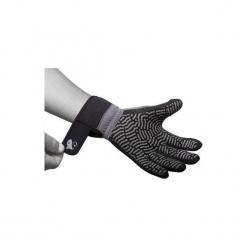 Wędkarskie rękawiczki neoprenowe Azuel. Brązowe rękawiczki damskie marki Roeckl. Za 59,99 zł.
