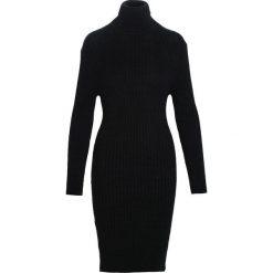 Czarna Sukienka Disconcerted. Czarne sukienki dzianinowe marki Born2be, na jesień, l, oversize. Za 99,99 zł.