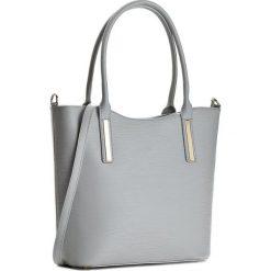 Torebka CREOLE - K10294 Jasny Szary. Szare torebki klasyczne damskie Creole, ze skóry. W wyprzedaży za 259,00 zł.