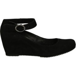 Czółenka - 6897 Z NE J17. Czarne buty ślubne damskie Venezia, ze skóry. Za 199,00 zł.