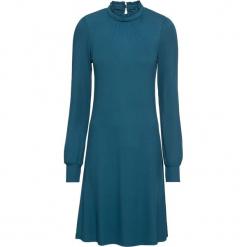 Sukienka shirtowa bonprix niebieskozielony morski. Zielone sukienki na komunię bonprix, z dekoltem w serek. Za 99,99 zł.