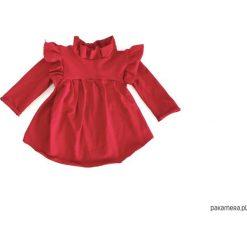 Sukienka dla dziecka rubin. Różowe sukienki dziewczęce z falbanami Pakamera, z długim rękawem, długie. Za 89,00 zł.