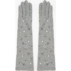 Długie wełniane rękawiczki - Szary. Brązowe rękawiczki damskie marki Roeckl. Za 59,99 zł.