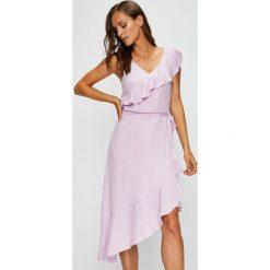 Answear - Sukienka Garden of Dreams. Szare sukienki mini ANSWEAR, na co dzień, l, z poliesteru, casualowe, proste. W wyprzedaży za 149,90 zł.
