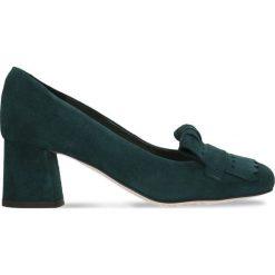 Czółenka ERI. Zielone buty ślubne damskie Gino Rossi, ze skóry, na słupku. Za 234,95 zł.