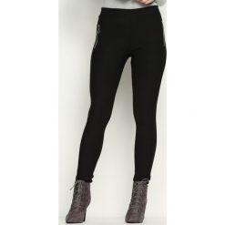 Spodnie damskie: Czarne Legginsy Circle