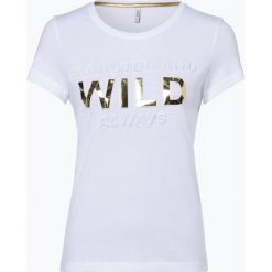 ONLY - T-shirt damski, czarny. Czarne t-shirty damskie ONLY, m, z nadrukiem. Za 89,95 zł.