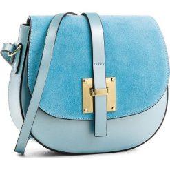 Torebka CREOLE - K10388 Błękitny. Niebieskie listonoszki damskie Creole, ze skóry. W wyprzedaży za 159,00 zł.