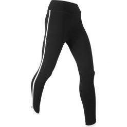 Legginsy sportowe ze stretchem, dł. 7/8, Level 1 bonprix czarny. Czarne legginsy we wzory marki bonprix. Za 49,99 zł.