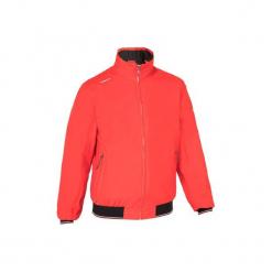 Bluza żeglarska RACE 100 męska. Czerwone bluzy męskie rozpinane marki KALENJI, m, z elastanu, z długim rękawem, długie. Za 169,99 zł.