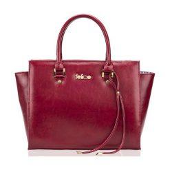 SKÓRZANA TORBA DO RĘKI  FELICE GOLD GATTO MALINOWY HAILEY. Różowe torby na laptopa marki FeliceGold, w paski, z bawełny. Za 399,00 zł.