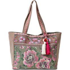 Shopper bag damskie: Torba shopper z materiału bonprix kolorowy