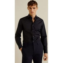 Mango Man - Koszula Emeritol. Czarne koszule męskie na spinki marki Premium by Jack&Jones, l, z bawełny, z włoskim kołnierzykiem, z długim rękawem. Za 199,90 zł.