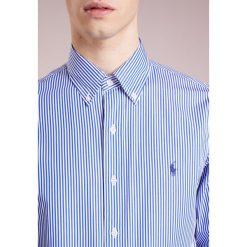 Polo Ralph Lauren SLIM FIT  Koszula blue/white. Szare koszule męskie slim marki Polo Ralph Lauren, l, z bawełny, button down, z długim rękawem. W wyprzedaży za 351,20 zł.