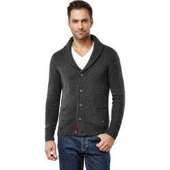 Swetry rozpinane męskie: Kardigan w kolorze antracytowym