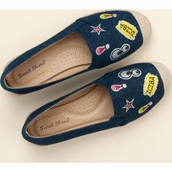Tomsy damskie: Jeansowe espadryle z naszywkami SWEET SHOES