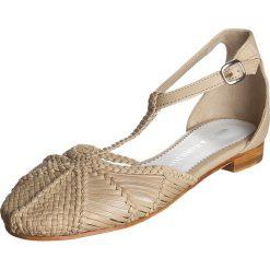 """Rzymianki damskie: Skórzane sandały """"Cecil"""" w kolorze piaskowym"""