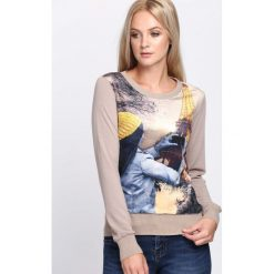 Brązowa Bluza Photo Essay. Brązowe bluzy rozpinane damskie Born2be, l, z nadrukiem, z satyny, z długim rękawem, długie. Za 24,99 zł.