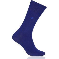 More - Skarpety Business. Niebieskie skarpetki męskie marki More, z bawełny. W wyprzedaży za 5,90 zł.