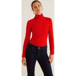 Mango - Sweter Genovac. Czerwone swetry klasyczne damskie Mango, l, z dzianiny, z krótkim rękawem. Za 99,90 zł.