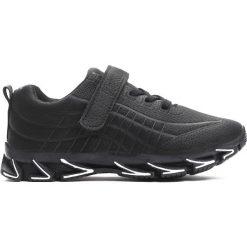 Czarne Buty Sportowe The New Real. Czarne buty sportowe chłopięce Born2be, z materiału, z okrągłym noskiem. Za 69,99 zł.