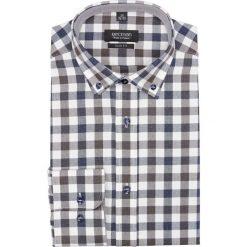 Koszula bexley f2643 długi rękaw slim fit brąz. Szare koszule męskie slim Recman, m, z długim rękawem. Za 139,00 zł.