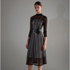 Sukienka midi - Czarny. Czarne sukienki marki Molly.pl, na wesele, l, z gorsetem, midi, baskinki. Za 59,99 zł.