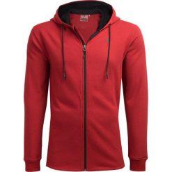 Bluza męska BLM605 - czerwony melanż - Outhorn. Czerwone bluzy męskie rozpinane Outhorn, m, melanż. W wyprzedaży za 99,99 zł.