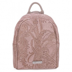 Tamaris Plecak Damski Jasnoróżowy Matilda. Różowe plecaki damskie Tamaris, w koronkowe wzory, z koronki, eleganckie. Za 229,00 zł.