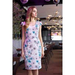 Sukienki: Sukienka ołówkowa z dekoltem i mini rękawami