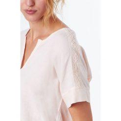Etam - Bluzka piżamowa Ronda. Szare bluzki z odkrytymi ramionami Etam, m, z bawełny, z krótkim rękawem. W wyprzedaży za 59,90 zł.