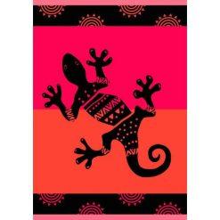 """Kąpielówki męskie: Ręcznik plażowy """"Providence"""" w kolorze czerwono-czarnym – 200 x 140 cm"""