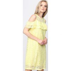 Sukienki hiszpanki: Żółta Sukienka U Wanna Stay