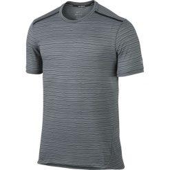 T-shirty męskie: koszulka do biegania męska NIKE DRI-FIT COOL TAILWIND STRIPE SHORT SLEEVE / 724809-065 – NIKE DRI-FIT COOL TAILWIND STRIPE SHORT SLEEVE