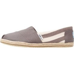 Espadryle damskie: TOMS STRIPE UNIVERSITY  Espadryle dark grey