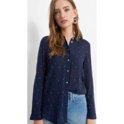 Koszula z drobnym wzorem. Brązowe koszule damskie marki Orsay, s, z dzianiny. Za 69,99 zł.