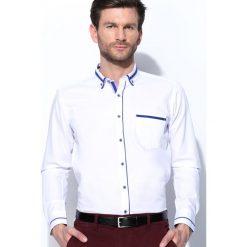 Koszule męskie na spinki: Biało-Niebieska Koszula High Spirits
