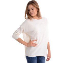 Sweter - 8-15264A PANN. Brązowe swetry klasyczne damskie marki Unisono, l, z bawełny. Za 59,00 zł.