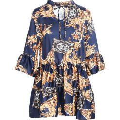 Granatowa Sukienka Cachaca. Niebieskie sukienki mini marki Born2be, uniwersalny. Za 84,99 zł.
