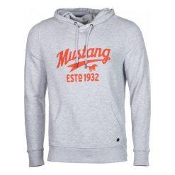 Mustang Bluza Męska Printed Hoodie L Szary. Czarne bluzy męskie rozpinane marki Mustang, l, z bawełny, z kapturem. Za 299,00 zł.