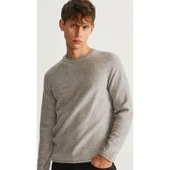 Sweter z bawełny organicznej - Jasny szar. Szare swetry klasyczne męskie Reserved, l, z bawełny. Za 119,99 zł.